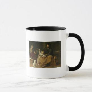小さい鳥、c.1650を持つ神聖な家族 マグカップ