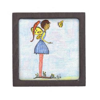 小さい1つの妖精の落書き ギフトボックス