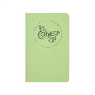 小さい(昆虫)オオカバマダラ、モナークのスタンプ ポケットジャーナル