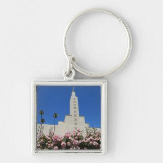 """小さい(1.38"""")優れた正方形のKeychainのLAの寺院 キーホルダー"""