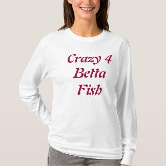 小さい「Bettaの熱狂するな4匹の魚」の女性のフード付きスウェットシャツ大人 Tシャツ