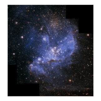 小さいMagellanic雲の幼児星 ポスター
