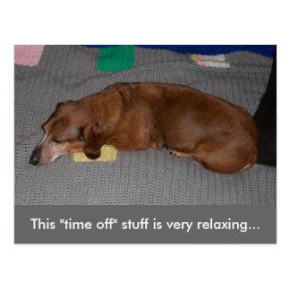 小さいR及びR -犬の居眠り ポストカード