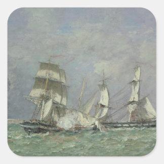 「小さいRodeur」の捕獲、1878年(カリフォルニアの油 スクエアシール