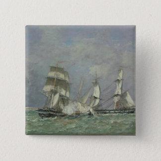 「小さいRodeur」の捕獲、1878年(カリフォルニアの油 5.1cm 正方形バッジ