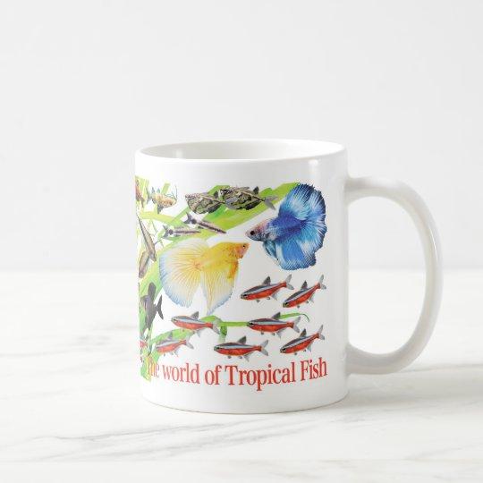 小さくてかわいい小型熱帯魚 コーヒーマグカップ