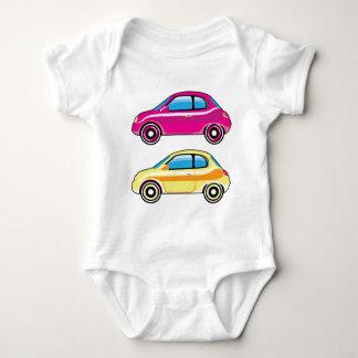 小さく小さく小さい車小型車のベクトル ベビーボディスーツ