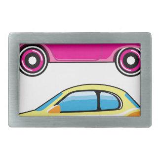 小さく小さく小さい車小型車のベクトル 長方形ベルトバックル