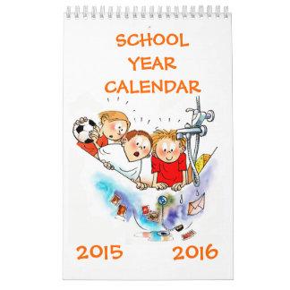 小さく独身のなページの学年のカレンダー2015 2016年 カレンダー