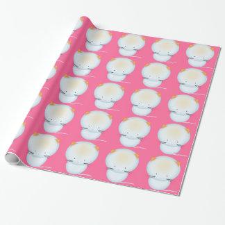 小さく白い子ネコのギフト用包装紙 ラッピングペーパー