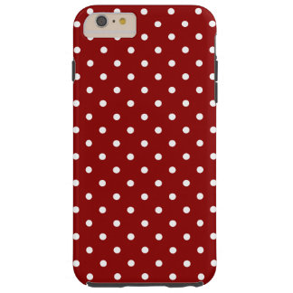 小さく白い水玉模様の赤の背景 TOUGH iPhone 6 PLUS ケース