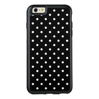 小さく白い水玉模様の黒い背景 オッターボックスiPhone 6/6S PLUSケース