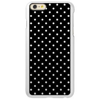 小さく白い水玉模様の黒い背景 INCIPIO FEATHER SHINE iPhone 6 PLUSケース