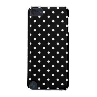 小さく白い水玉模様の黒い背景 iPod TOUCH 5G ケース