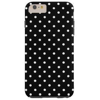 小さく白い水玉模様の黒い背景 TOUGH iPhone 6 PLUS ケース