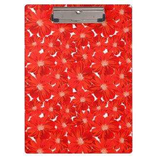 小さく赤い花 クリップボード