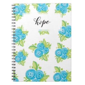 小さく青いバラ ノートブック