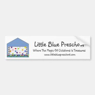 小さく青い就学前のバンパーステッカー バンパーステッカー