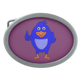 小さく青い鳥のカスタムなベルトの留め金 卵形バックル