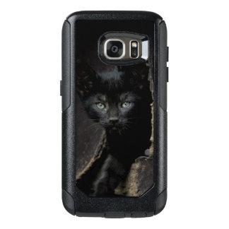 小さく黒い子猫 オッターボックスSamsung GALAXY S7ケース