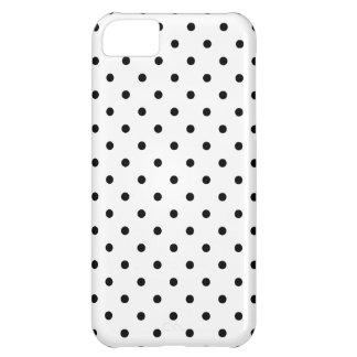 小さく黒い水玉模様の白の背景 iPhone5Cケース