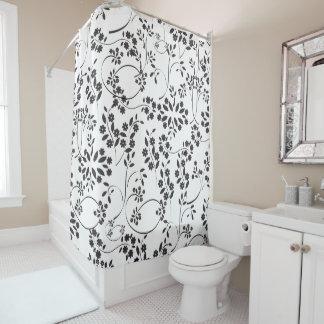 小さく黒い花 シャワーカーテン