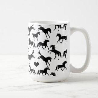 小さく黒い馬のコーヒー・マグ コーヒーマグカップ