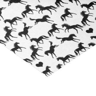小さく黒い馬のティッシュペーパー 薄葉紙