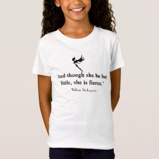 小さく、激しい妖精のシルエットの女の子のティー Tシャツ