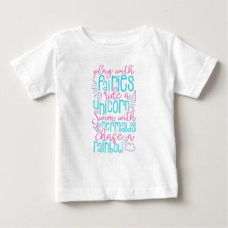 小さな女の子のおとぎ話のワイシャツ ベビーTシャツ