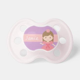 小さな女の子のためにピンクかわいいプリンセス おしゃぶり