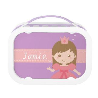 小さな女の子のためのピンクのかわいいプリンセス ランチボックス