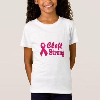 小さな女の子のための裂かれた強いTシャツ Tシャツ