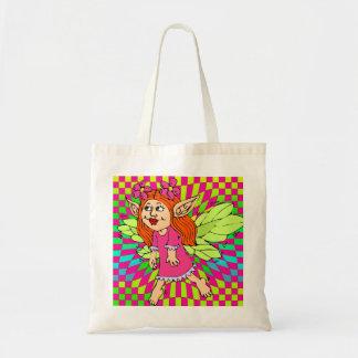 小さな女の子のトートバックの妖精のカラフルなトート トートバッグ