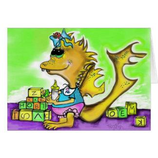 小さな女の子のドラゴン カード