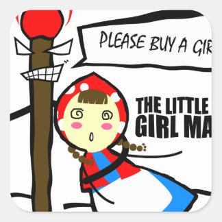 小さな女の子のマッチ・テスト スクエアシール
