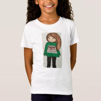 小さな女の子のメリークリスマス Tシャツ
