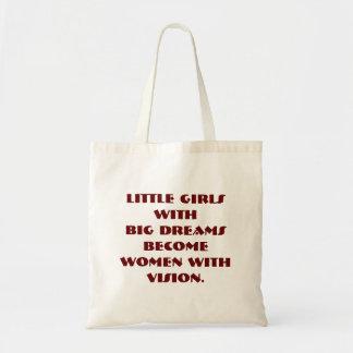 小さな女の子の大きい夢 トートバッグ