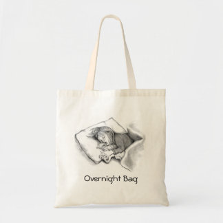小さな女の子の睡眠: オリジナルの鉛筆のスケッチ トートバッグ