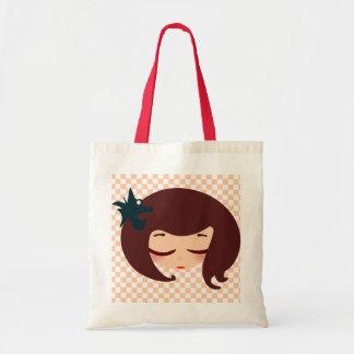 小さな女の子の顔 トートバッグ