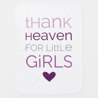 小さな女の子02のベビーブランケットのために天国を感謝していして下さい ベビー ブランケット