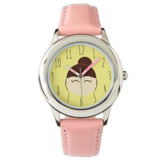 小さな女の子NO.2の子供の腕時計のガーリーなピンク 腕時計