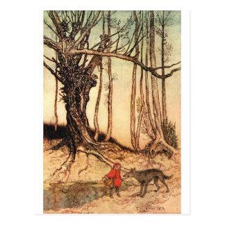 小さ赤乗馬フード写真6 ポストカード