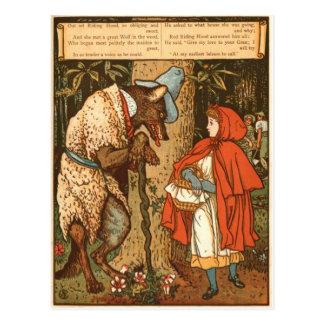 小さ赤乗馬フード写真9 ポストカード