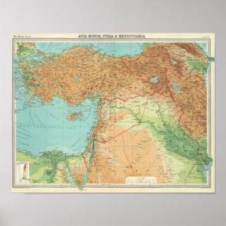 小アジア、シリア及びメソポタミア ポスター