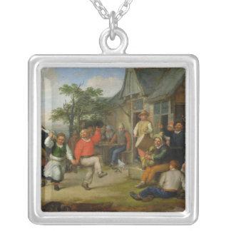 小作人のダンス1678年 シルバープレートネックレス