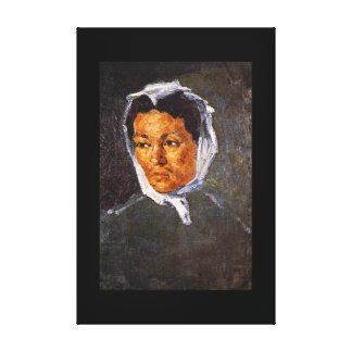 小作農のWoman_Impressionists キャンバスプリント