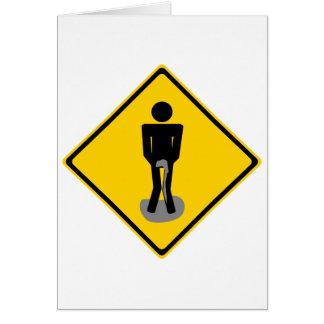 小便によっては交通標識が喘ぎます カード