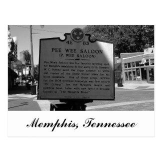小便のちっぽけな大広間の歴史的マーカーメンフィステネシー州 ポストカード