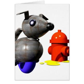 小便をしているロボット犬 カード